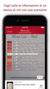 Vivino app wine list